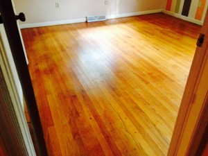 cleaned hardwood